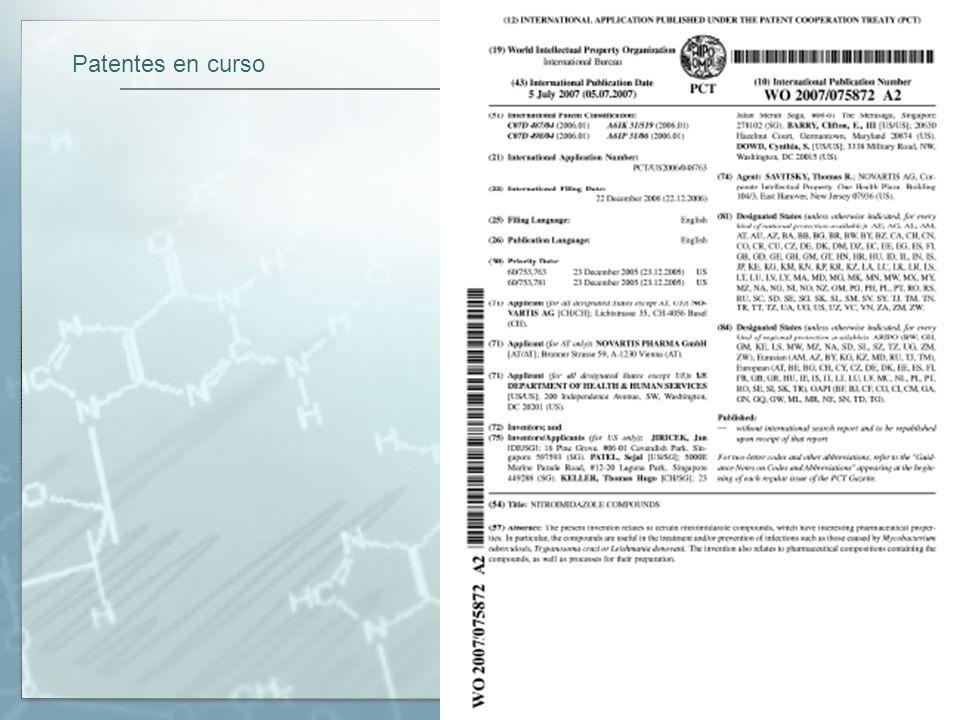 Patentes en curso