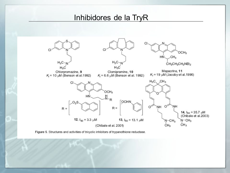 Inhibidores de la TryR