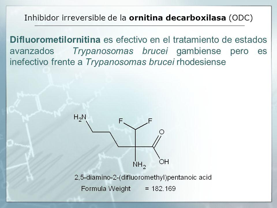 Inhibidor irreversible de la ornitina decarboxilasa (ODC)