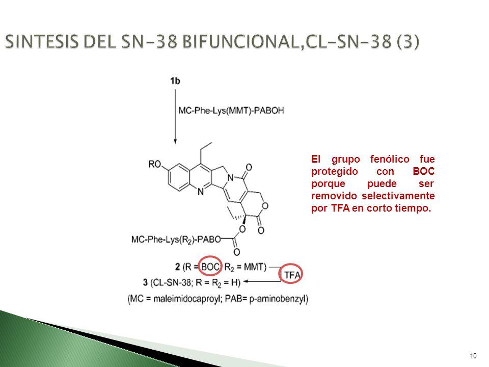 SINTESIS DEL SN-38 BIFUNCIONAL,CL-SN-38 (3)