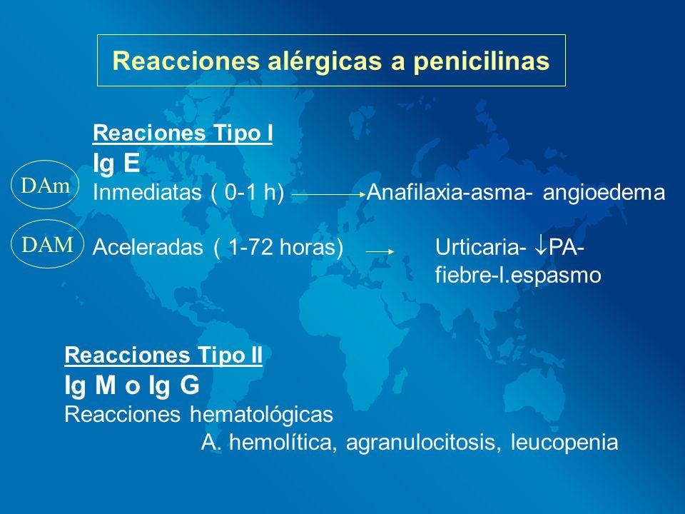 Reacciones alérgicas a penicilinas