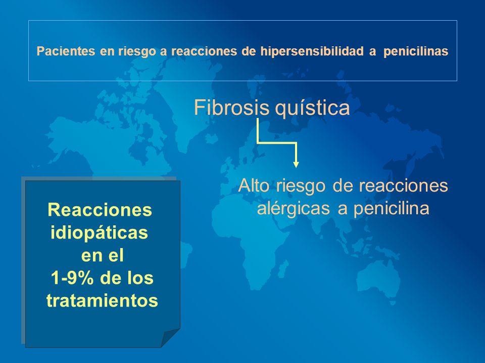Pacientes en riesgo a reacciones de hipersensibilidad a penicilinas