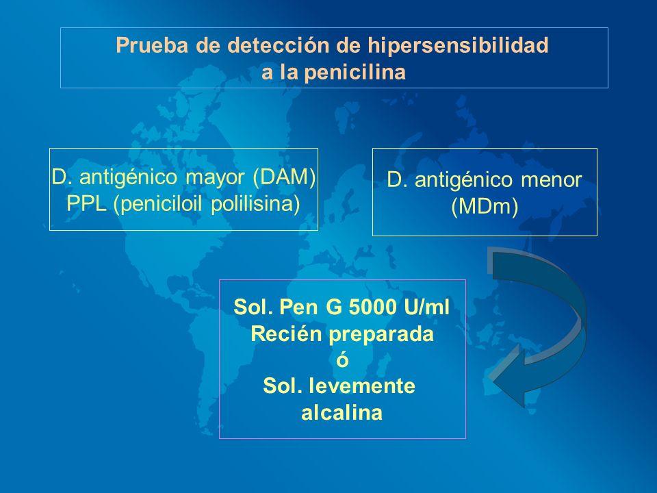 Prueba de detección de hipersensibilidad
