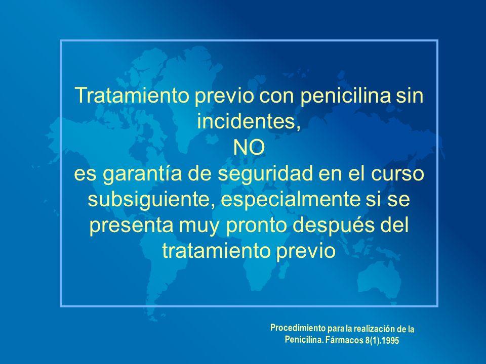 Procedimiento para la realización de la Penicilina. Fármacos 8(1).1995