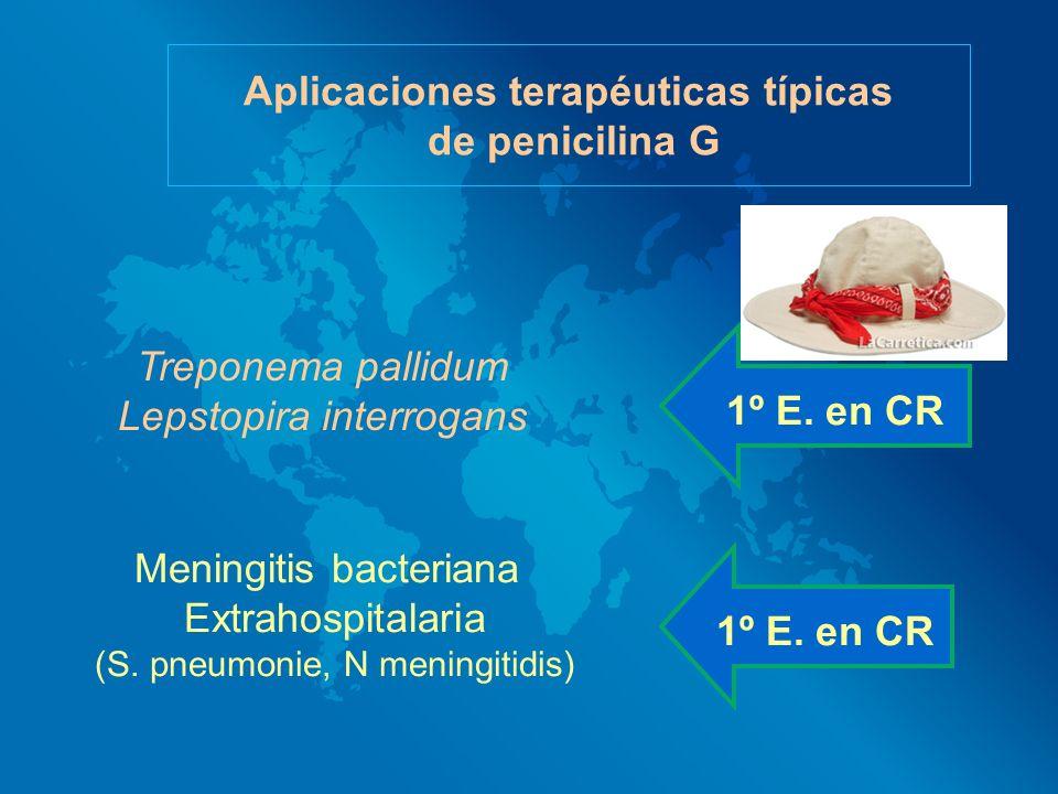 Aplicaciones terapéuticas típicas