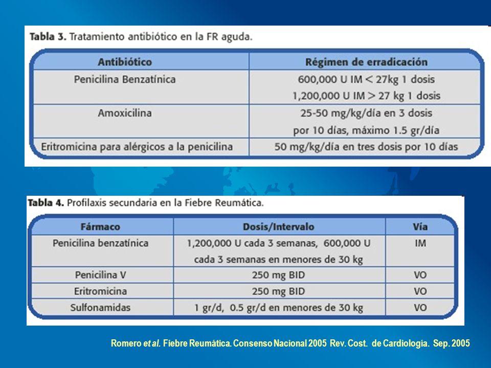 Romero et al. Fiebre Reumática. Consenso Nacional 2005 Rev. Cost