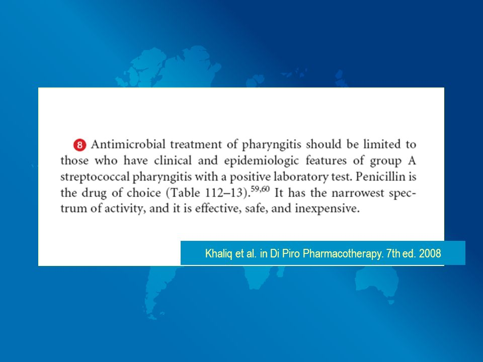 Khaliq et al. in Di Piro Pharmacotherapy. 7th ed. 2008