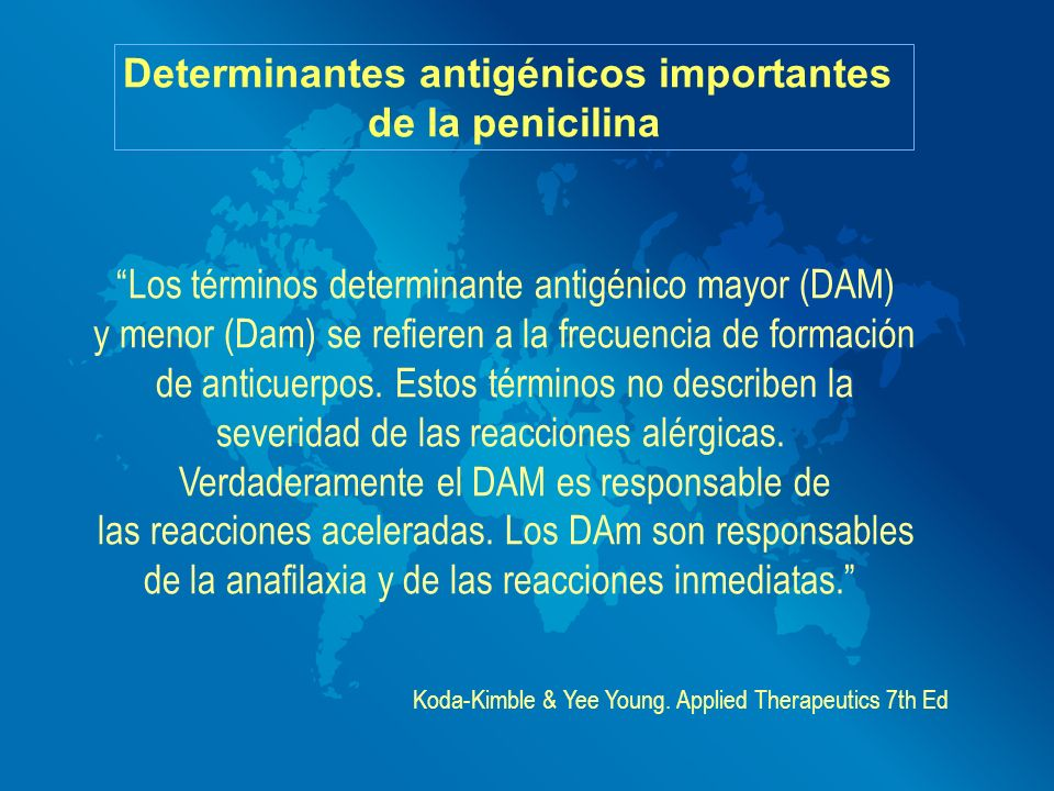 Determinantes antigénicos importantes
