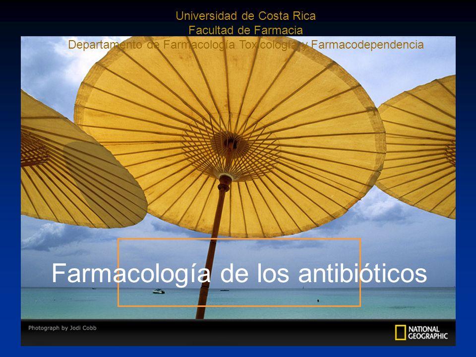 Farmacología de los antibióticos