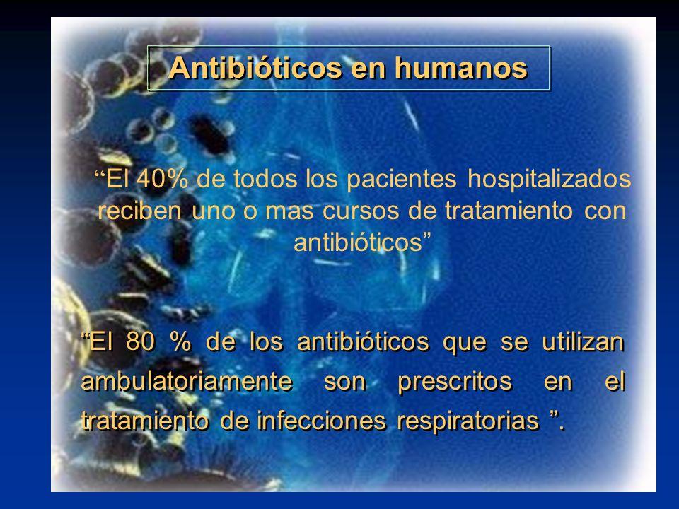 Antibióticos en humanos