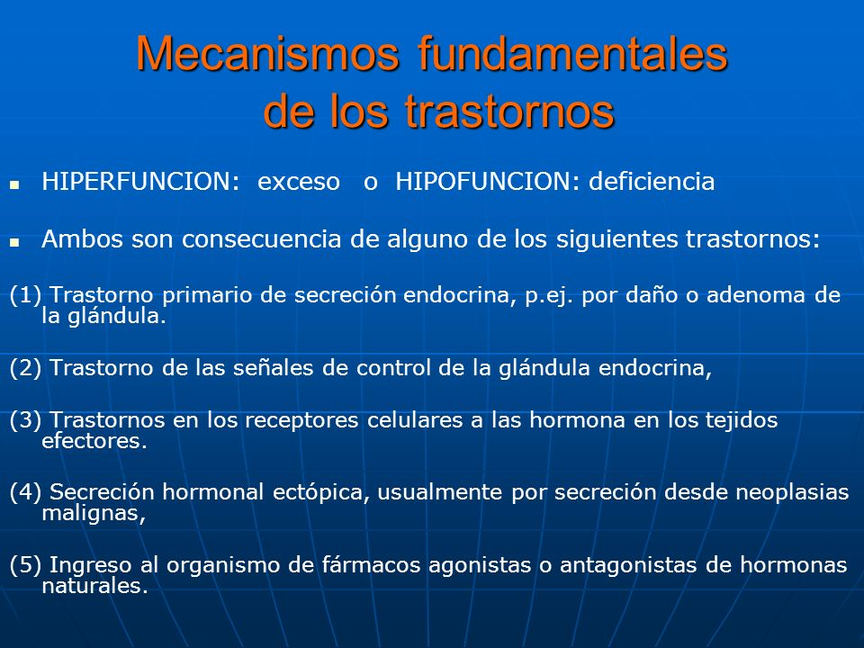 Mecanismos fundamentales de los trastornos