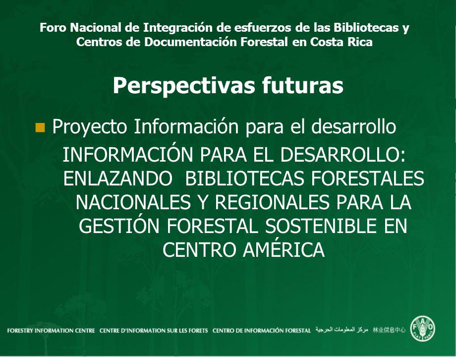 Perspectivas futuras Proyecto Información para el desarrollo