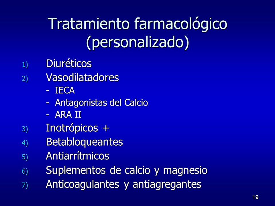 Tratamiento farmacológico (personalizado)