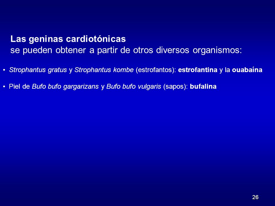 Las geninas cardiotónicas