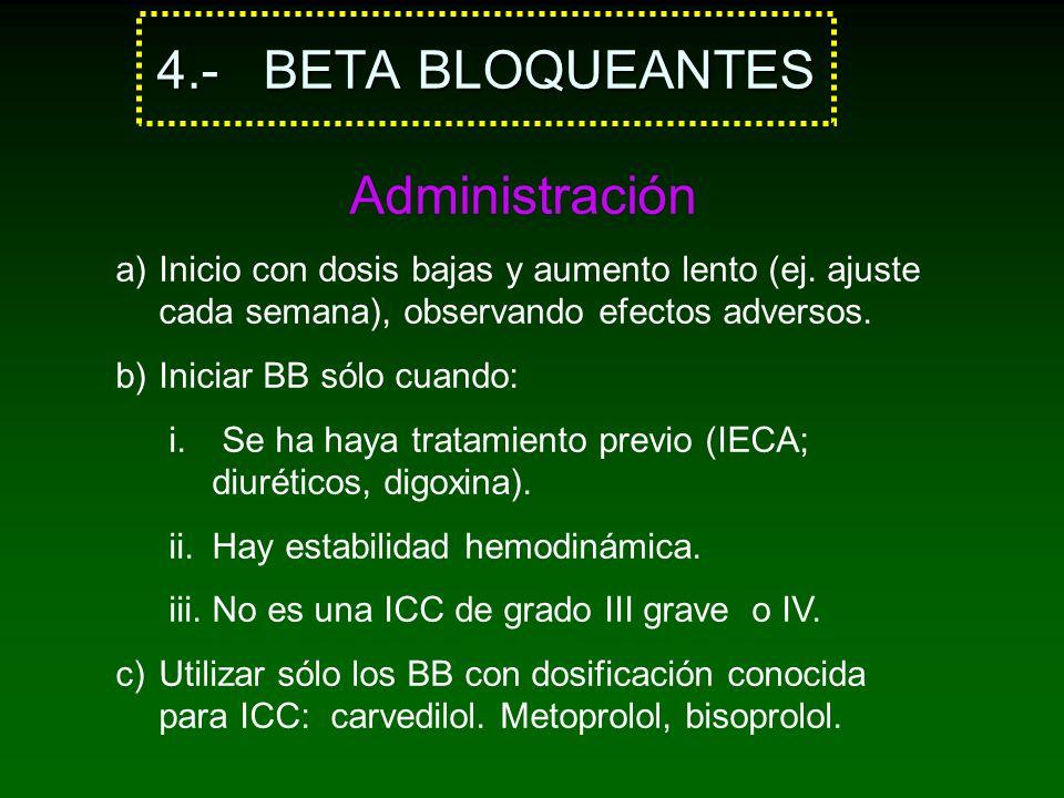 4.- BETA BLOQUEANTES Administración