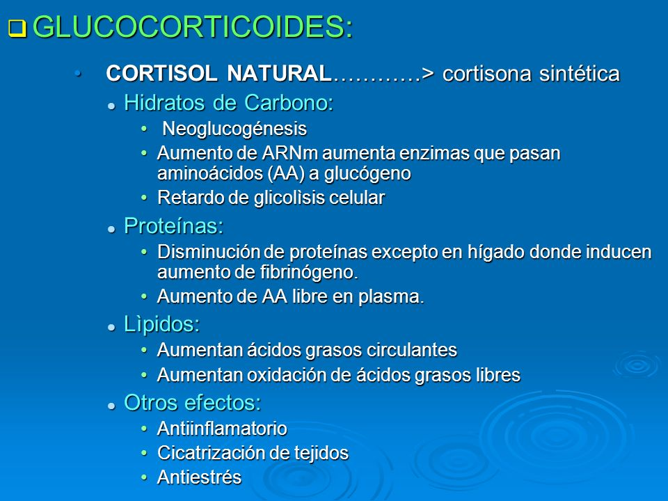 GLUCOCORTICOIDES: CORTISOL NATURAL…………> cortisona sintética