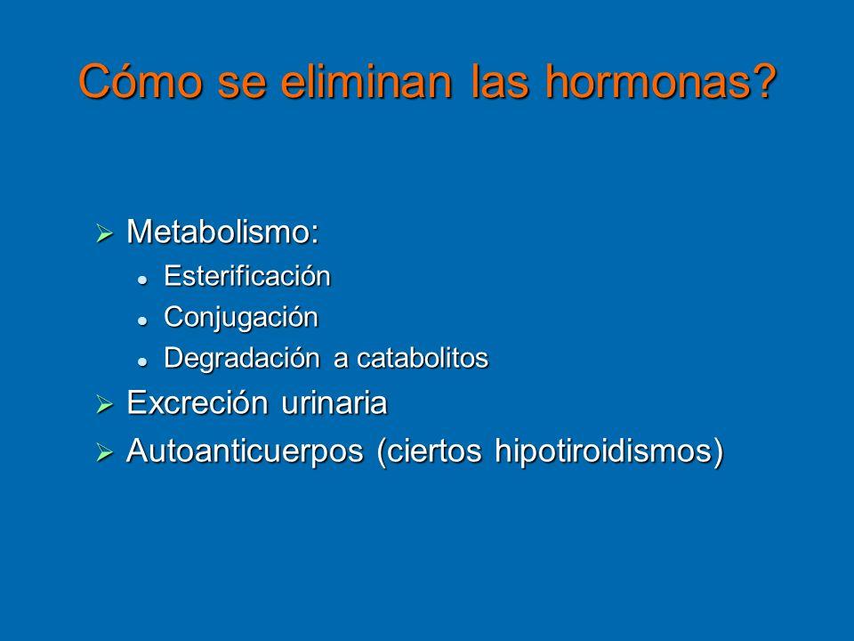 Cómo se eliminan las hormonas