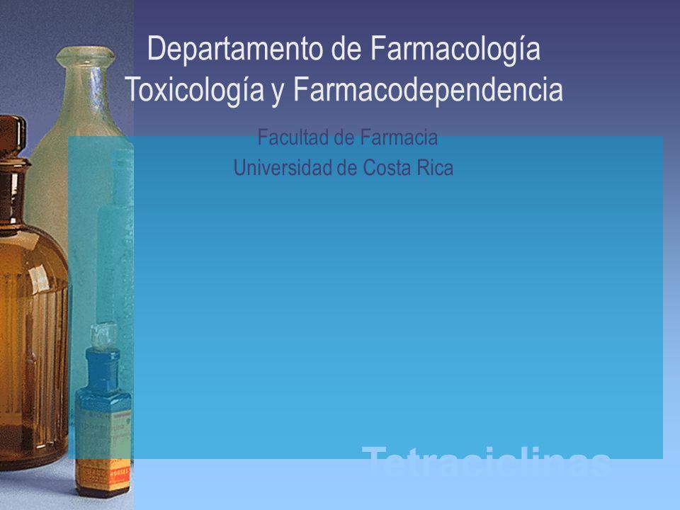 Departamento de Farmacología Toxicología y Farmacodependencia Facultad de Farmacia Universidad de Costa Rica