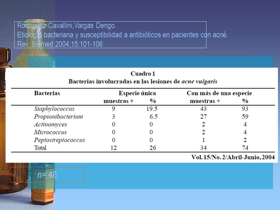 n= 46 Rodriguez-Cavallini,Vargas Dengo.