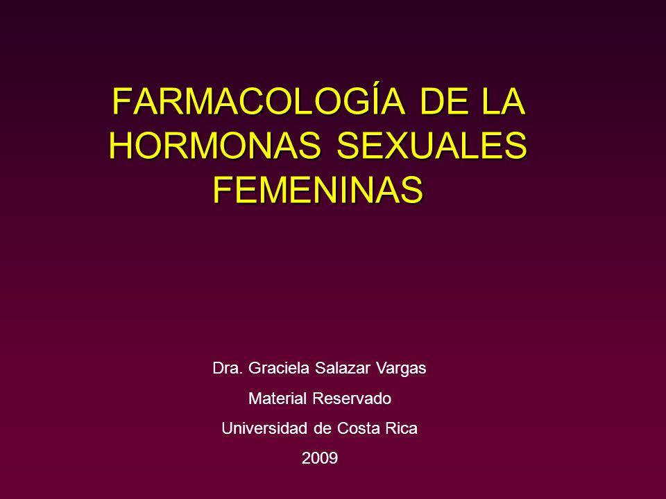 FARMACOLOGÍA DE LA HORMONAS SEXUALES FEMENINAS