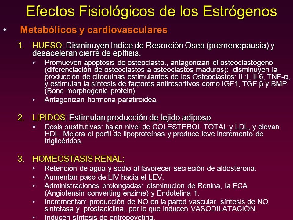 Efectos Fisiológicos de los Estrógenos