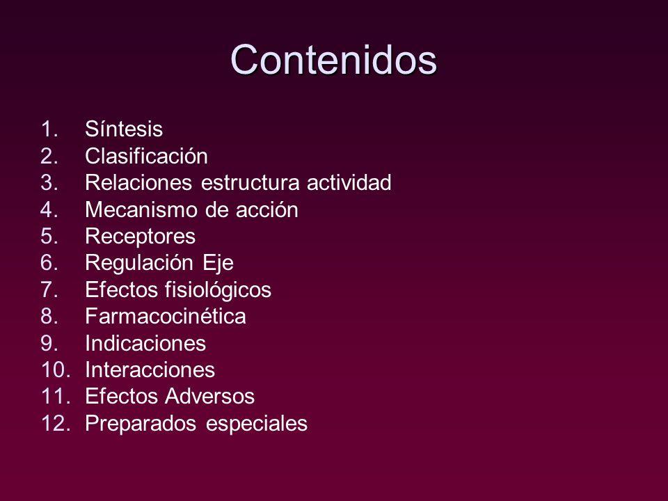 Contenidos Síntesis Clasificación Relaciones estructura actividad