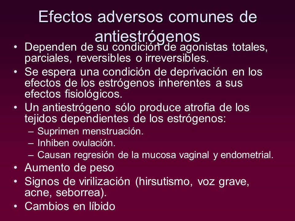 Efectos adversos comunes de antiestrógenos