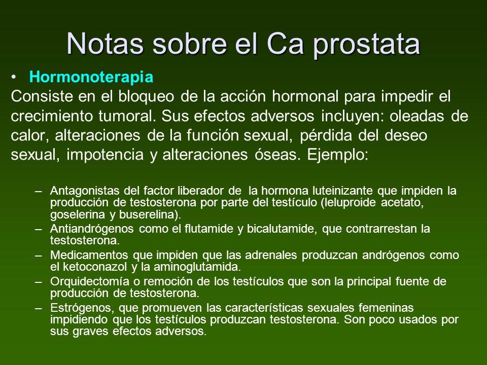 Notas sobre el Ca prostata