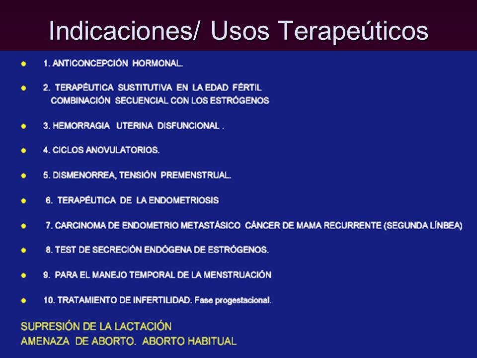 Indicaciones/ Usos Terapeúticos