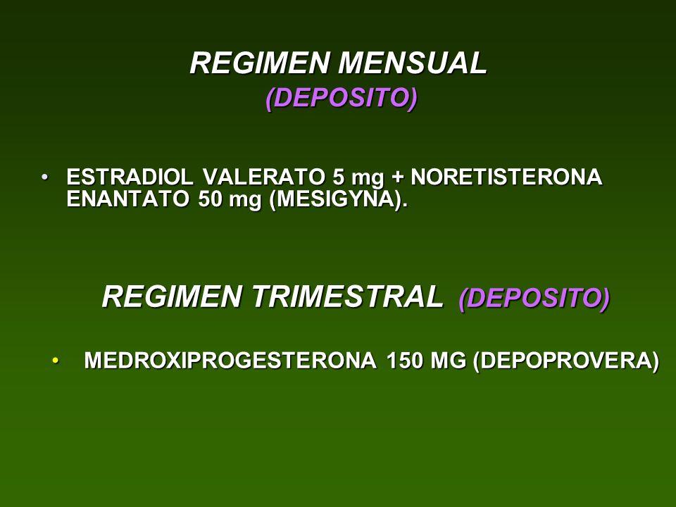 REGIMEN MENSUAL (DEPOSITO)