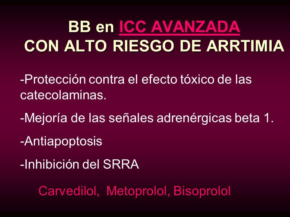 BB en ICC AVANZADA CON ALTO RIESGO DE ARRTIMIA
