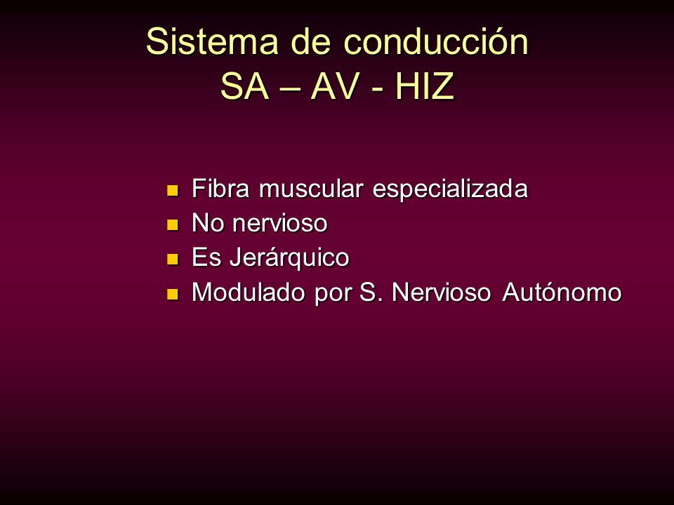 Sistema de conducción SA – AV - HIZ