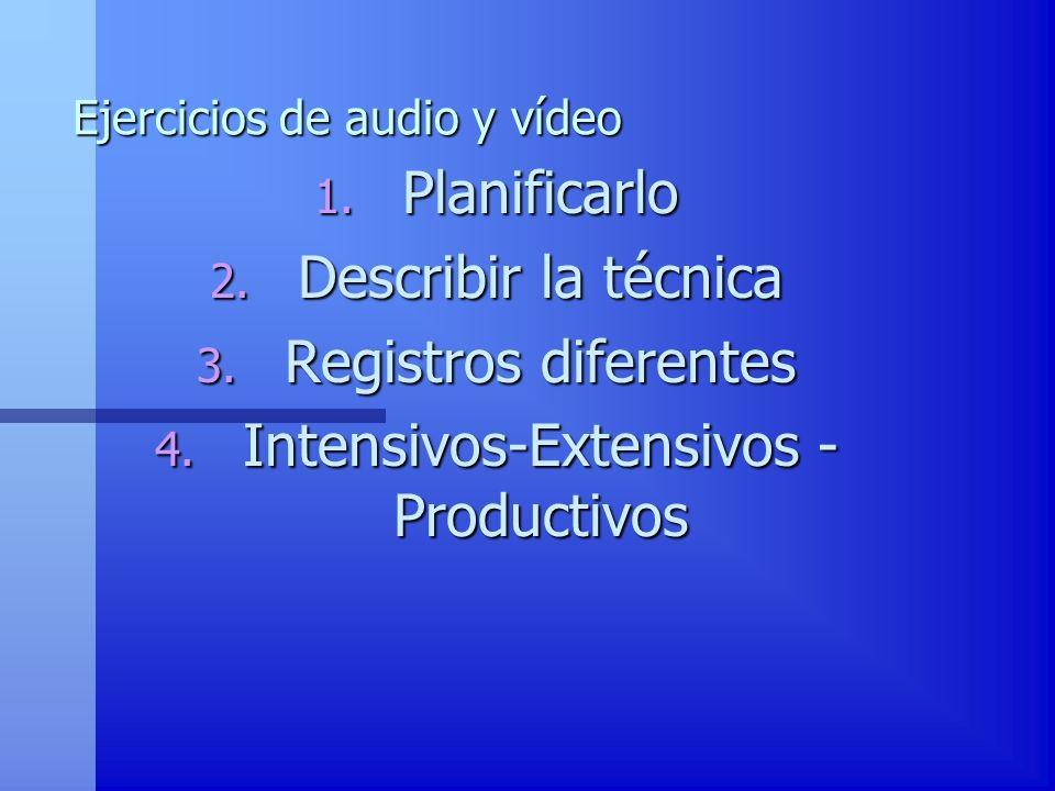 Ejercicios de audio y vídeo