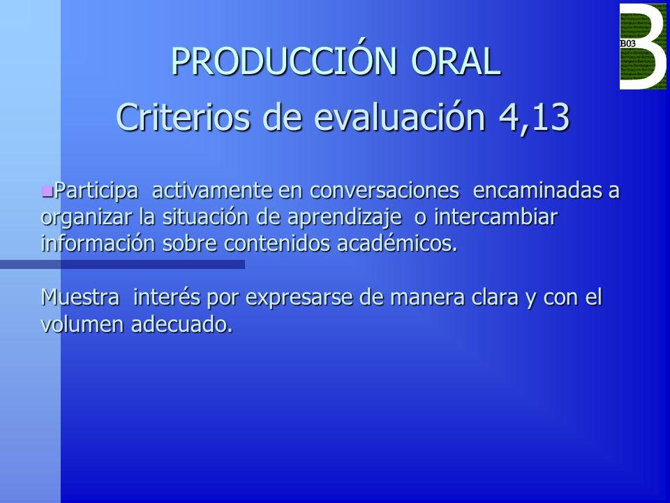 Criterios de evaluación 4,13
