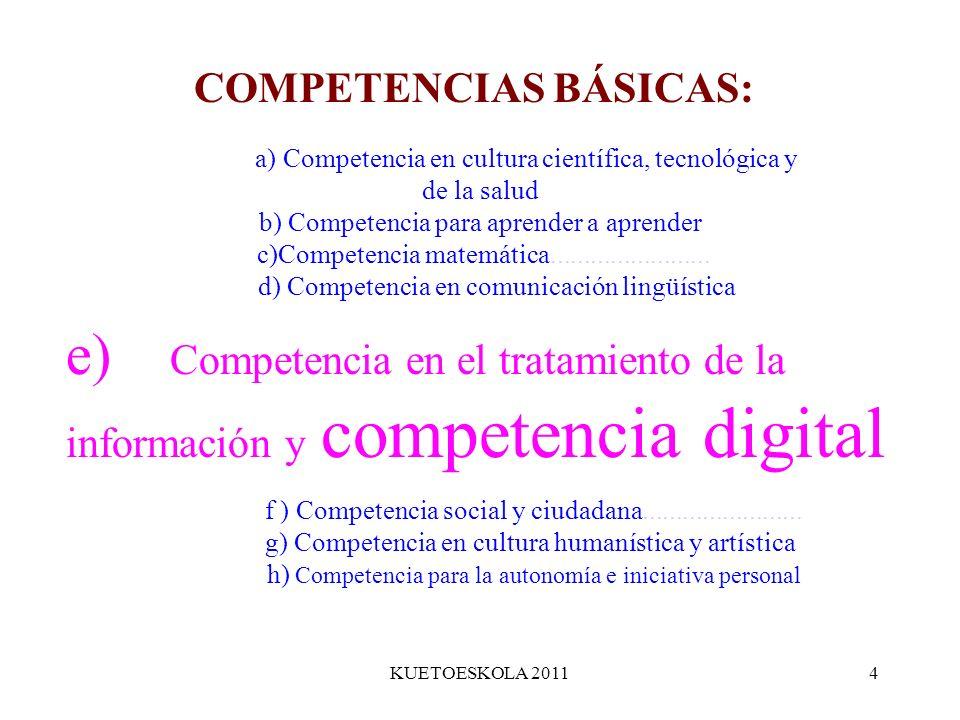 COMPETENCIAS BÁSICAS: