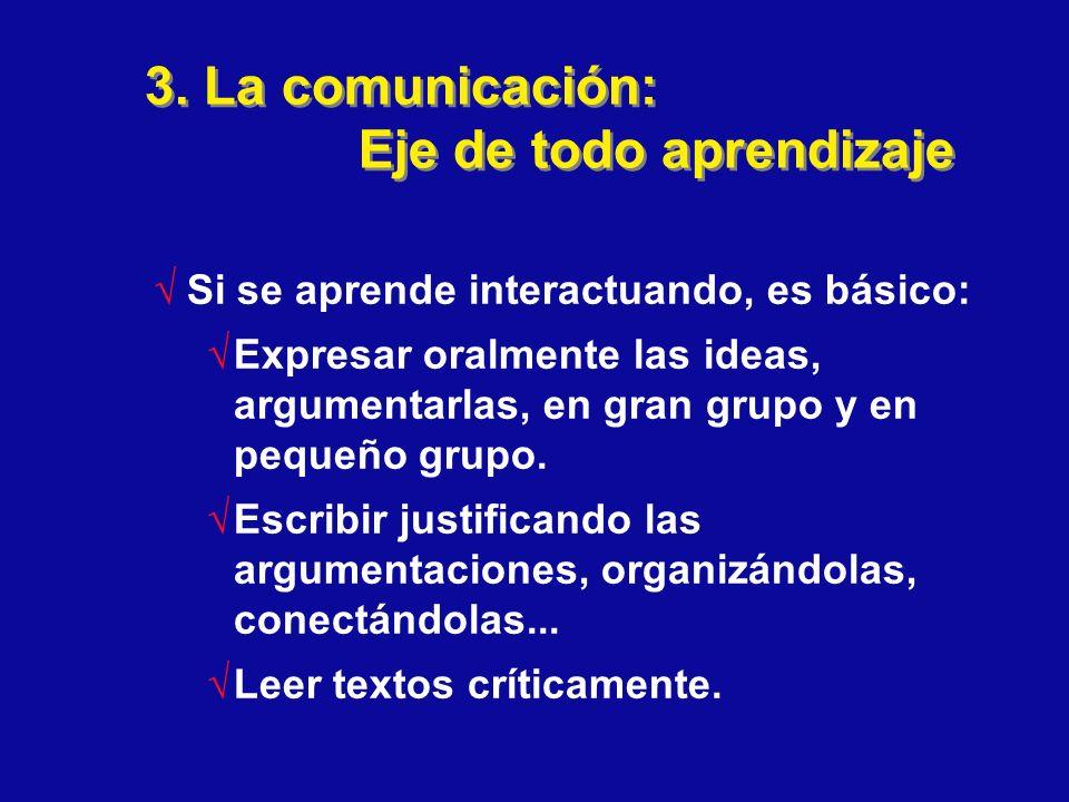 3. La comunicación: Eje de todo aprendizaje