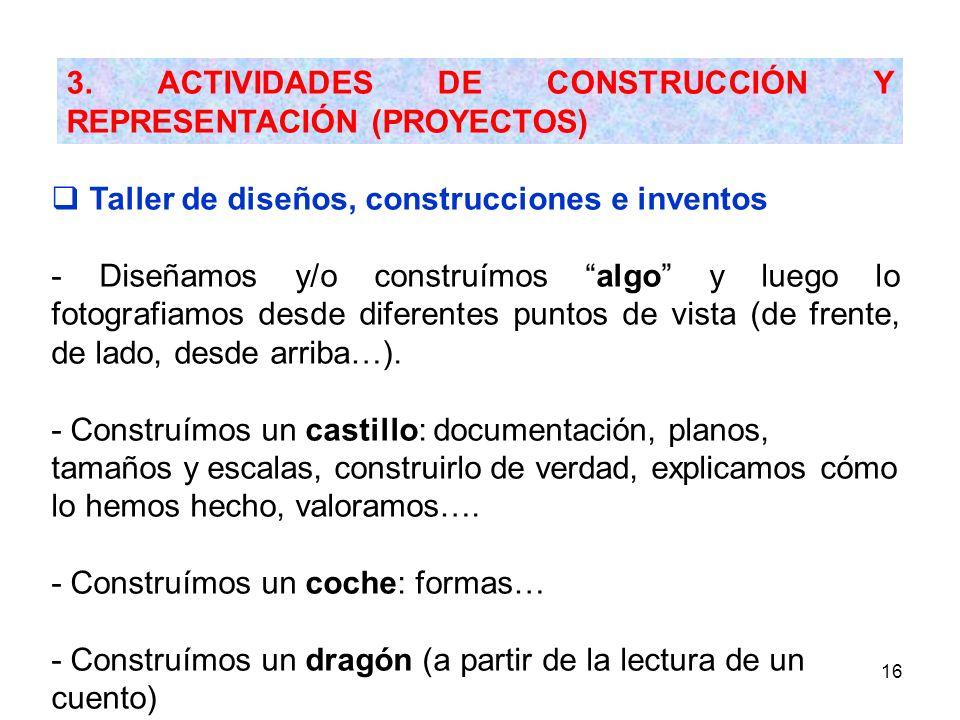 3. ACTIVIDADES DE CONSTRUCCIÓN Y REPRESENTACIÓN (PROYECTOS)