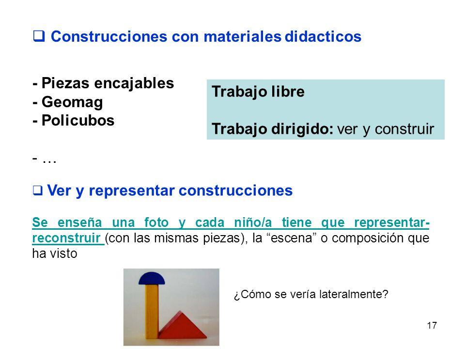 Construcciones con materiales didacticos