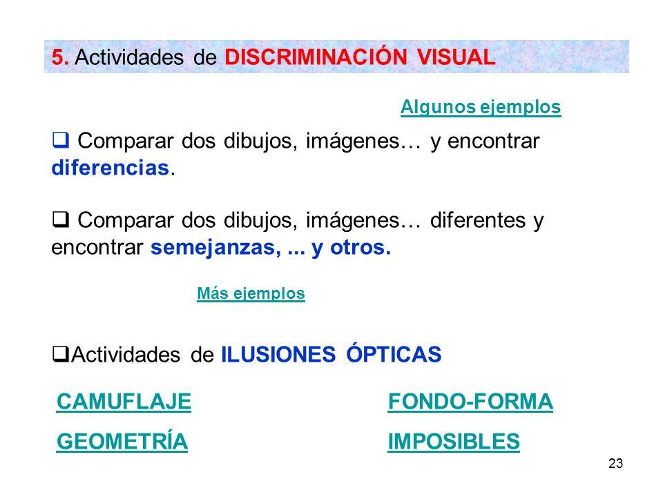 5. Actividades de DISCRIMINACIÓN VISUAL