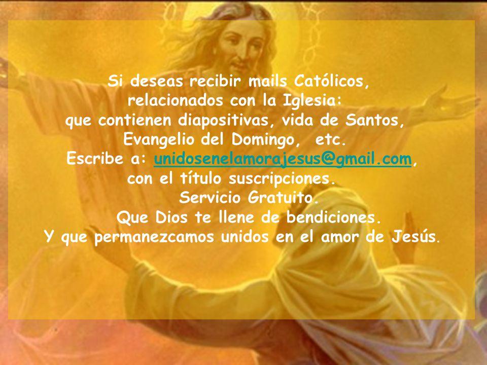 Si deseas recibir mails Católicos, relacionados con la Iglesia:
