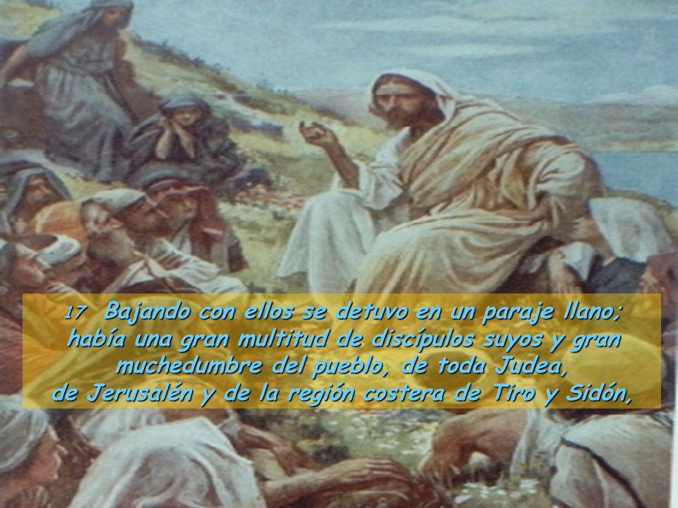 de Jerusalén y de la región costera de Tiro y Sidón,