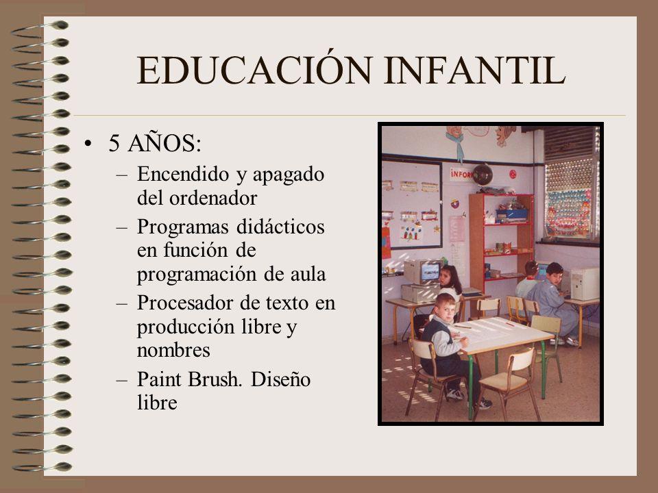 EDUCACIÓN INFANTIL 5 AÑOS: Encendido y apagado del ordenador
