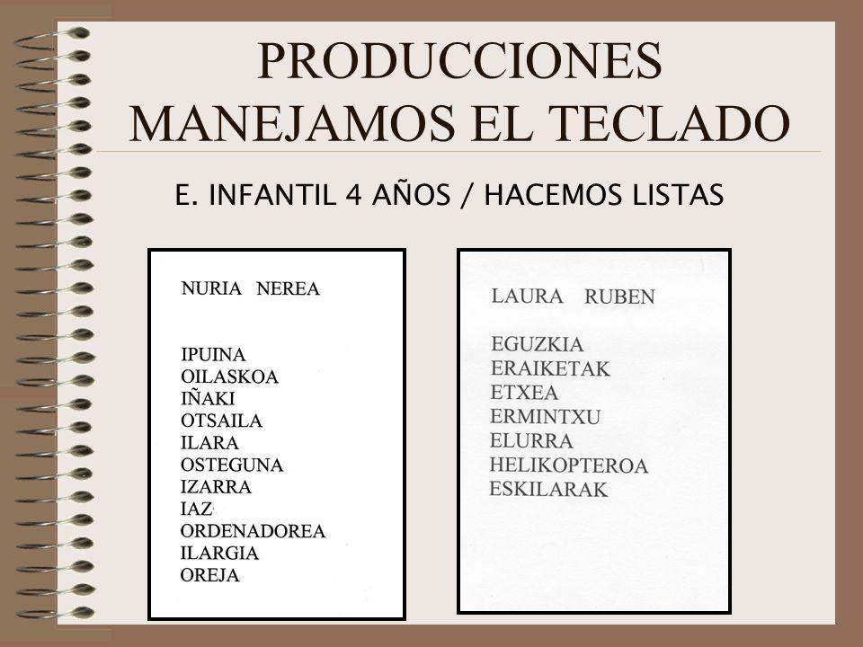 PRODUCCIONES MANEJAMOS EL TECLADO
