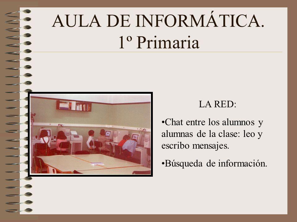 AULA DE INFORMÁTICA. 1º Primaria