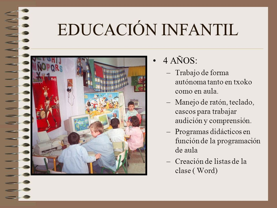EDUCACIÓN INFANTIL 4 AÑOS: