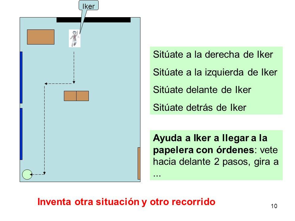 Sitúate a la derecha de Iker Sitúate a la izquierda de Iker