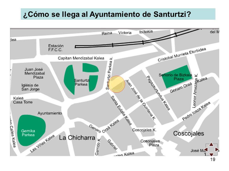 ¿Cómo se llega al Ayuntamiento de Santurtzi