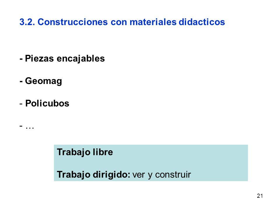3.2. Construcciones con materiales didacticos