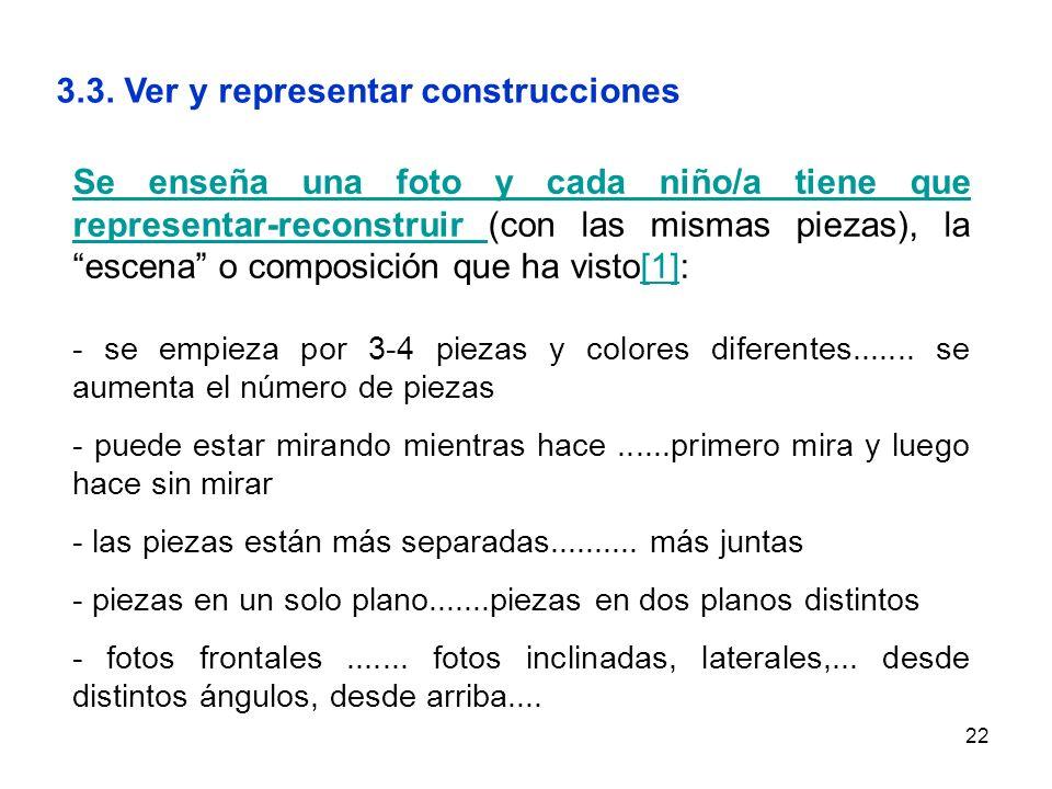 3.3. Ver y representar construcciones