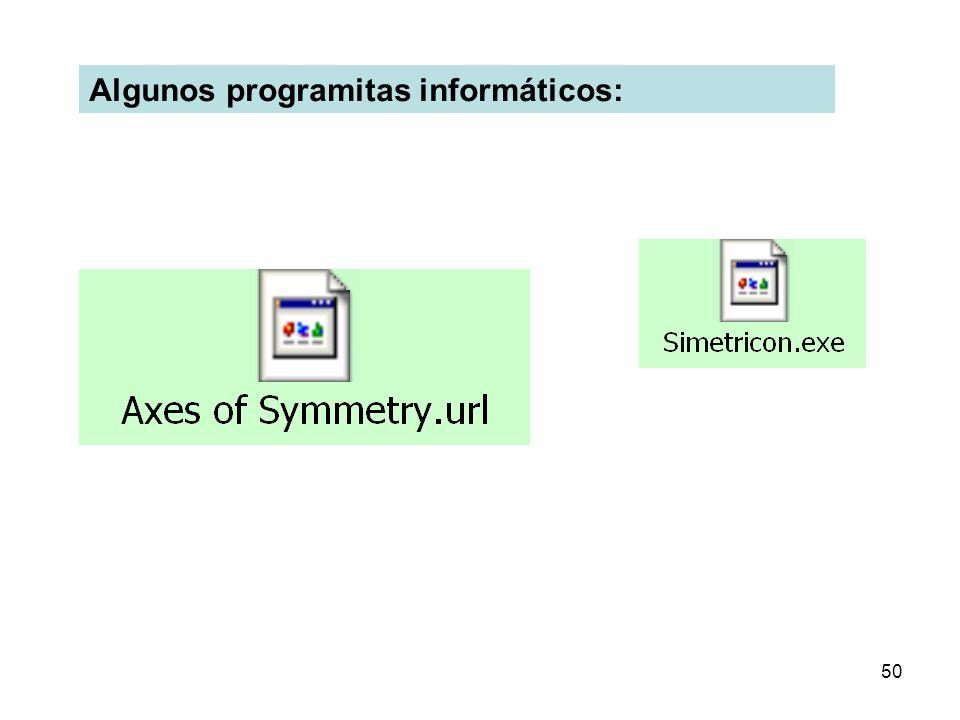 Algunos programitas informáticos: